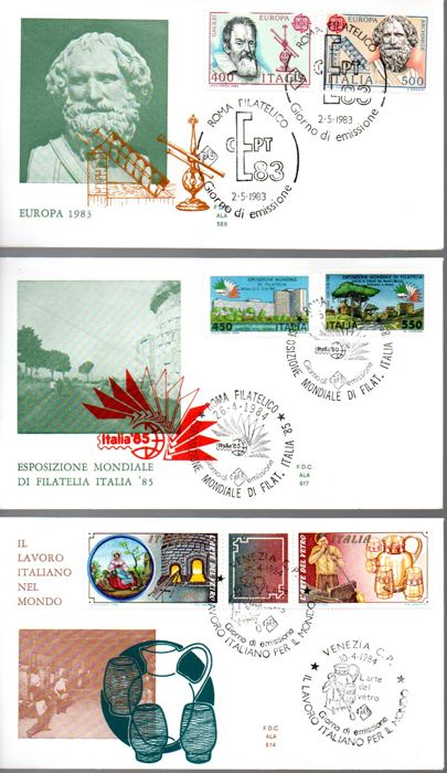 Italy Republic 1961/2010 - Collection of 216 FDCs, circulated letters, postal stationery and commemorative cards. - Sassone