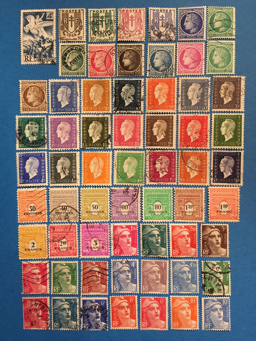 France 1945/1954 - 1946/1954 lot of stamps - Yvert 669 à 1007