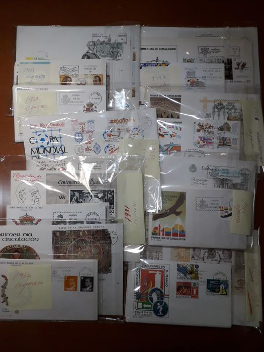 Spain 1980/1987 - Complete collection FDC