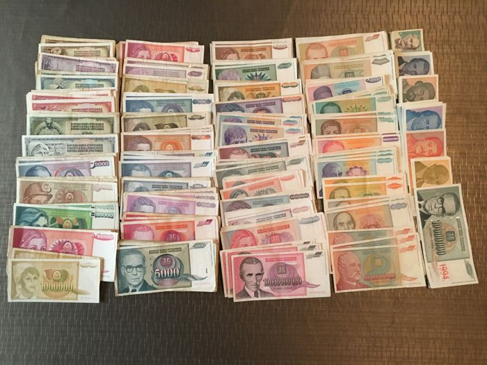 Yugoslavia - 500 banknotes -50 Different types 1965-1994
