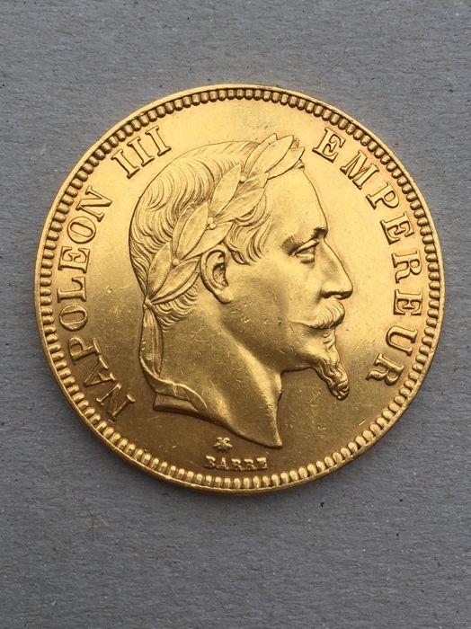 100 Francs 1868-A Napoleon lll - Or