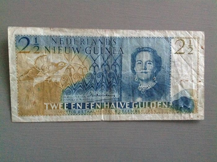 Netherlands New Guinea - 2½ Gulden 1954 - Pick 12a