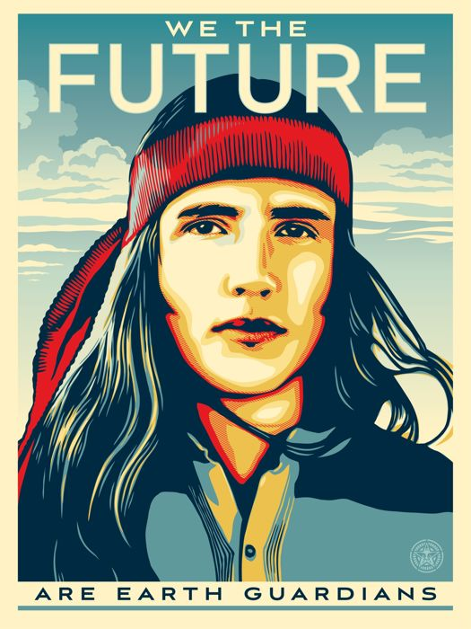 Shepard Fairey - We the Future - Are Earth Gardians