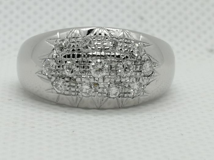 18 karaat Witgoud - Ring - 0.80 ct Diamant