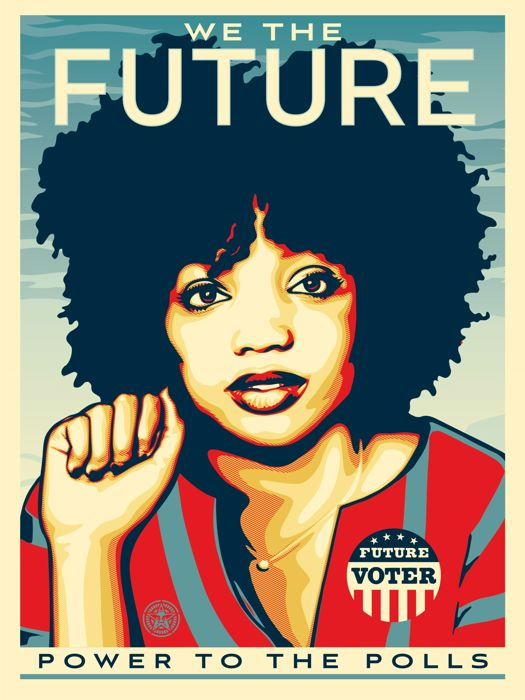 Shepard Fairey - We the Future - Power to the Polls