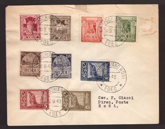 Italy - Colonies (general issues) - Selection of postal history