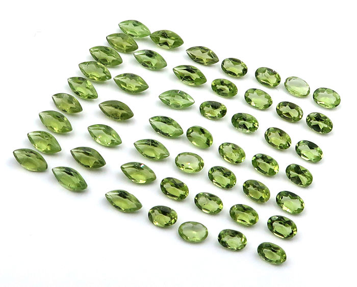 51 pcs  Peridot - 30.00 ct