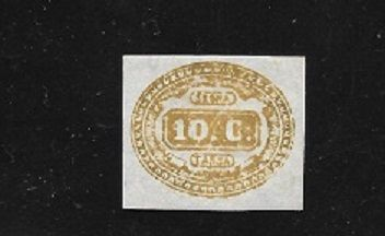 Italy Kingdom 1863 - Postage due 10 cents yellow - Sassone N. 1