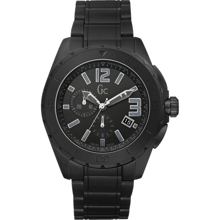 "Guess Collection - Chronograph Black Ceramic Sport Class XXL Swiss Made ""NO RESERVE PRICE"" - X76011G2S - Men - 2011-present"