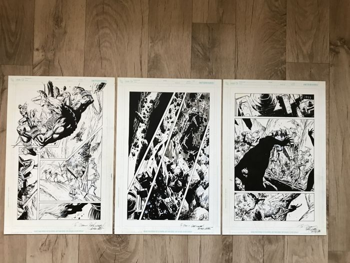 Aquaman - 3 x original pages by Butch Guice - Loose page - Original drawing - (2004)