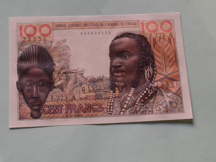 West African States - 100 Francs 2-3-1965 - Pick 101Ae
