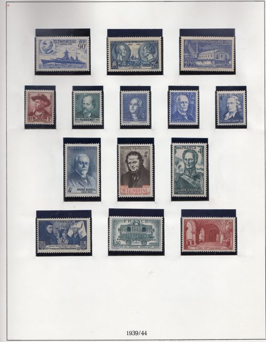 France 1939/1945 - Selection of stamps