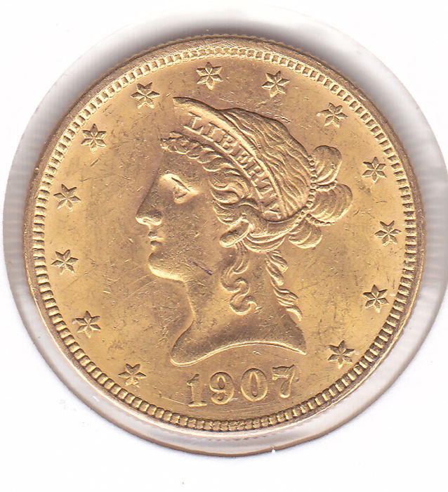 United States - 10 Dollar 1907 Liberty Head Eagle - Gold