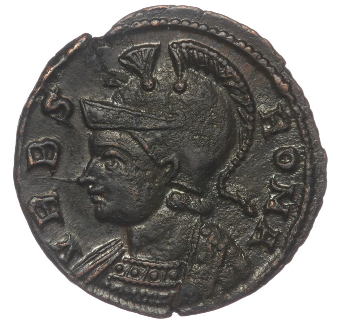 Roman Empire -  Urbs Roma AE Follis, Constantine I the Great (AD 307-337) - She wolf & twins