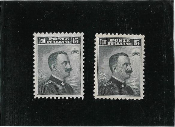 Italy - Kingdom 1906 2 pieces Michetti on the right - Sassone 80