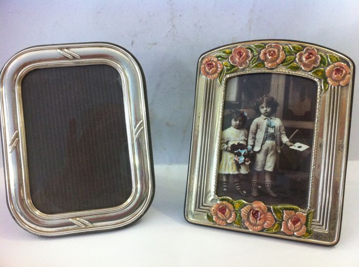Pair of Solid Silver Frames - .925 silver - Italy - 1950-1999
