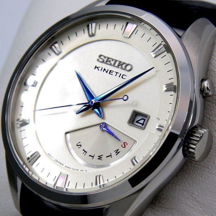 "Seiko - Kinetic 100M ""Blue Hands"" - - ""NO RESERVE PRICE"" - - Men - 2011-present"