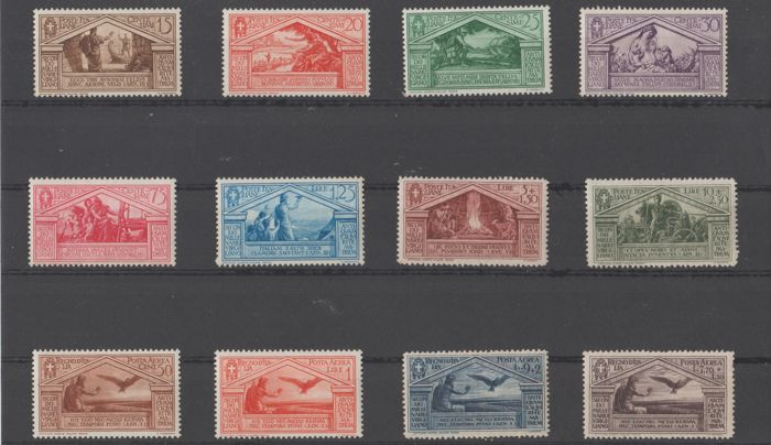 Italy Kingdom 1930 - Bimillenary of the birth of Virgil, regular mail and airmail - Sassone N. S.58