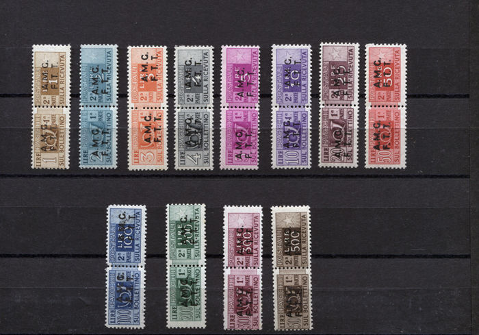 Triest - Zone A 1947/1948 - Postal parcels on two rows, complete set - Sassone N.1/12