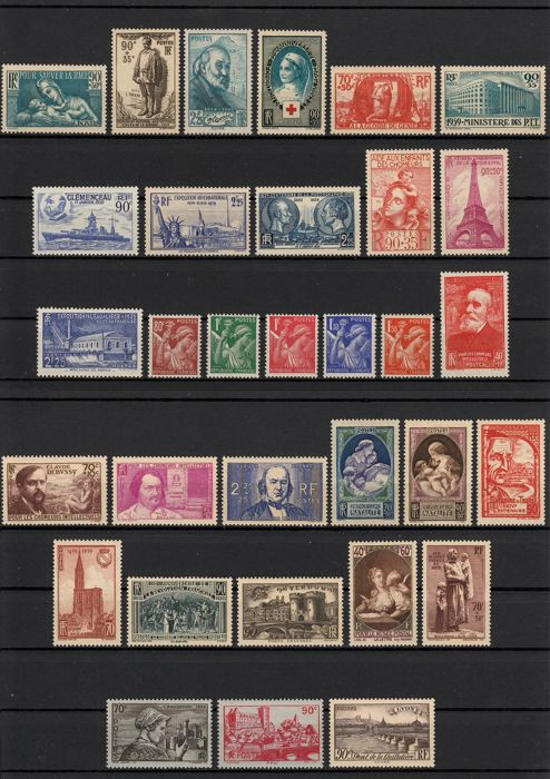 France 1939 - Complete year - Yvert n° 419/450