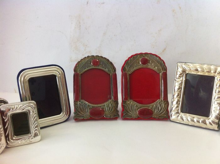 Collection of Frames (9x) in Miniature - .925 silver
