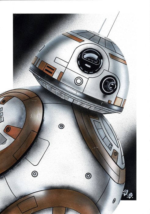 BB-8, Star Wars - Original Painting - Diego Septiembre - Hand-Painted