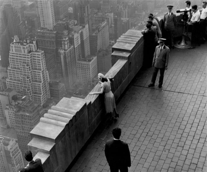 Werner Wolff (1911-2002)/Black Star - 'On the rooftop of the Graybar Building', New York, c.1950's
