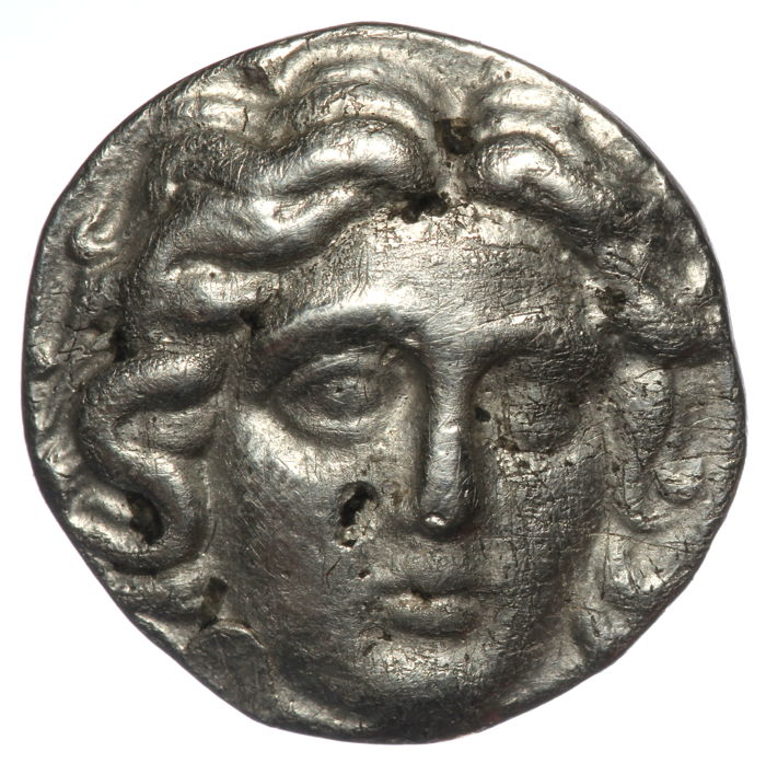 Greece (ancient) - Islands of Caria  Drachm Rhodos (ca 265-250) - Erasikles magistrate - Rose - Silver