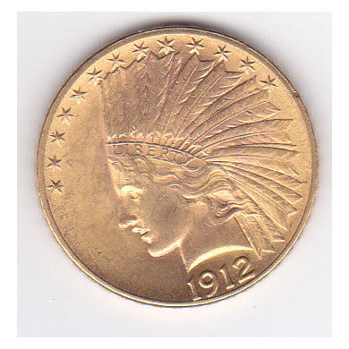 Yhdysvallat - 10  Dollar 1912 Indian Head - Kulta