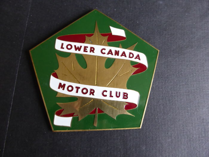Plakette - Badge Lower Canada Motor Club - 1970 (1 Objekte)