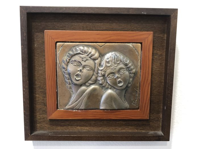 Wood frame with silver front 925 Brunel - .925 silver - brunel - Italy - 1950-1999