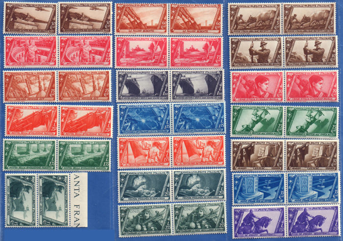 Italy 1932 - Kingdom - March on Rome complete set 20v. in pairs MNH - Sassone S.66