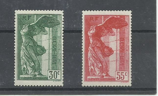 France 1930/1937 - Colonial Exhibition and National museums - Yvert 274 y 354/355