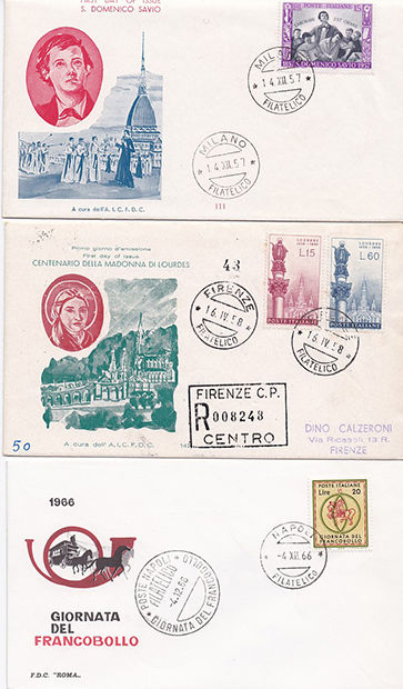 Italy 1957/2017 - Collection of 253 first day covers, postal stationery, PT slips, circulated letters and more