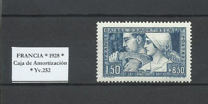 France - Caisse d'Amortissement 1928 - Yvert 252b tipo II