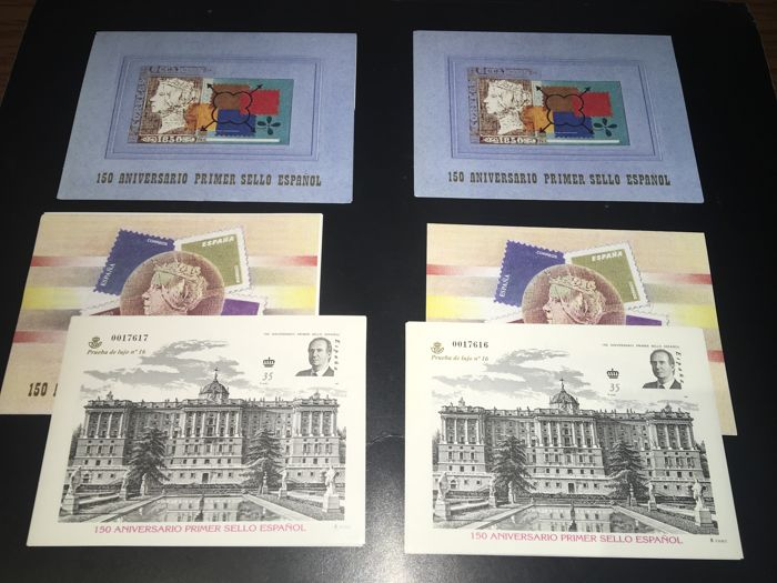 Spanien 2000 - Batch of two complete booklets of the 150th Anniversary of Spanish stamps - Edifil 3711AC + Prueba 71A (X2)