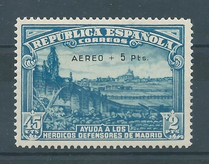 Spain 1938 - Defense of Madrid airmail, CMF report - Edifil 759