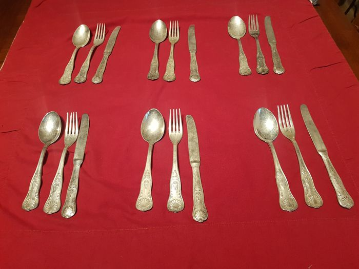 Cutlery set (18) - Silverplate - Italy - 1950-1999
