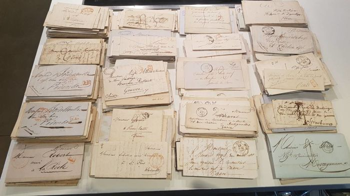 France - Batch with over 1050 letters from the 1st half of the 19th century