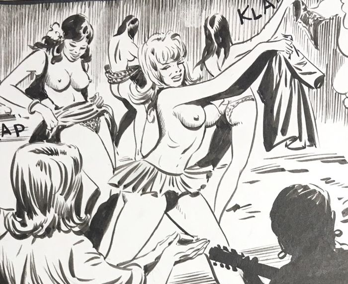 Bonnie #63 - Camillo Zuffi - 10x original pages - Sexy Splash! - Loose page - First edition - (1971)