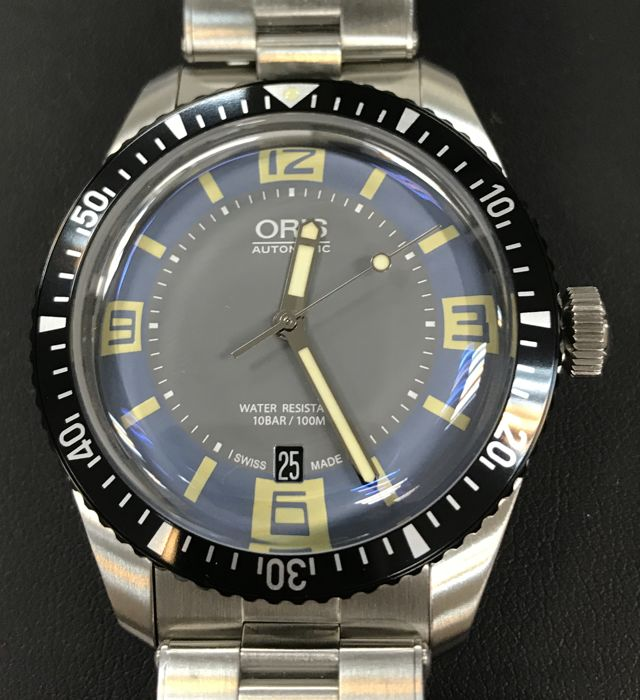 Oris - DIVERS SIXTY-FIVE Men's blue dial automatic - 01 733 7707 4065 - Homem - 2011-presente