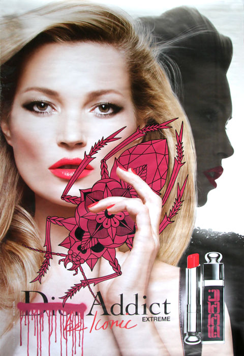 SEEL - Kate Moss - Dior Addict XXL Bus Stop Billboard
