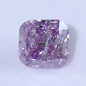 1 pcs Diamanten - 0.09 ct - Briljant, Cushion - fancy pink - P2