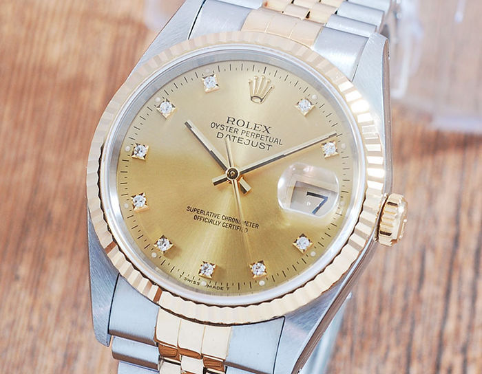 Rolex - Oyster Perpetual DateJust  - 16233G - Uomo - 1990-1999