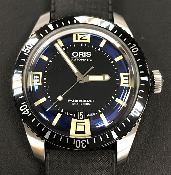 Oris - DIVERS SIXTY-FIVE Men's blue dial automatic - 01 733 7707 4035 - Men - 2011-present