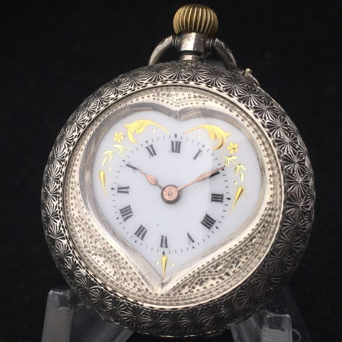 Heart shaped Pocket watch - NO RESERVE PRICE - 中性 - 1850-1900