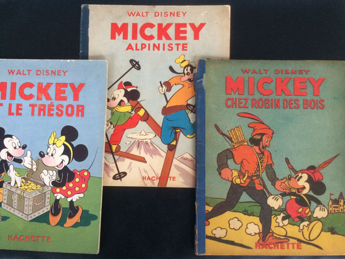 Mickey Mouse - N°7 + N°21 + N°30 - Cartonato - Ristampa 2EO + 1 - (1947/1949)