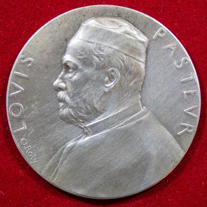 France - Medal 'Louis Pasteur' 1888 by O. Roty - Argent