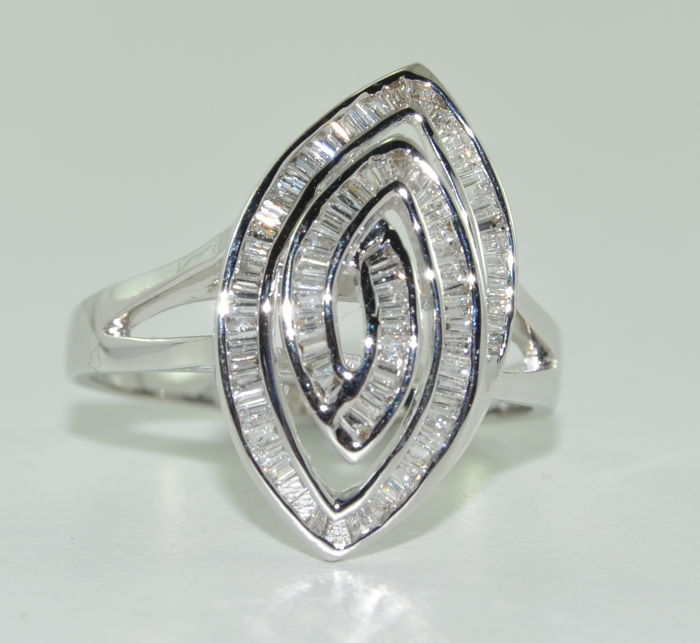 18 karaat Witgoud - Ring - 2.70 ct Diamant