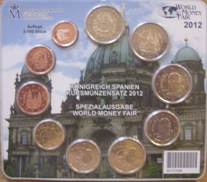Spain - Jaarset Euro 2012 World Money Fair ( 10 munten )